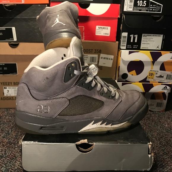 size 40 d6ad5 16ea6 Jordan Other - Nike Air Jordan Retro 5 Wolf Grey Size 11